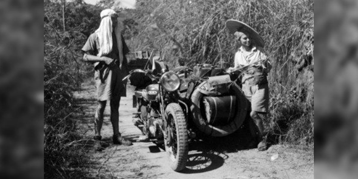 Podróż poślubna znad Niemna do Chin. Na motorze. W 1934 r.