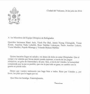 list papieża