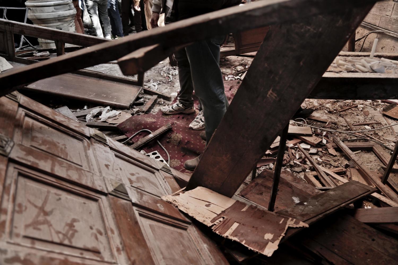 Eksplozja w kairskiej katedrze, fot. AFP/EAST NEWS