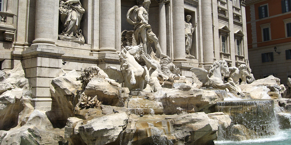 Fontanna Di Trevi w Rzymie