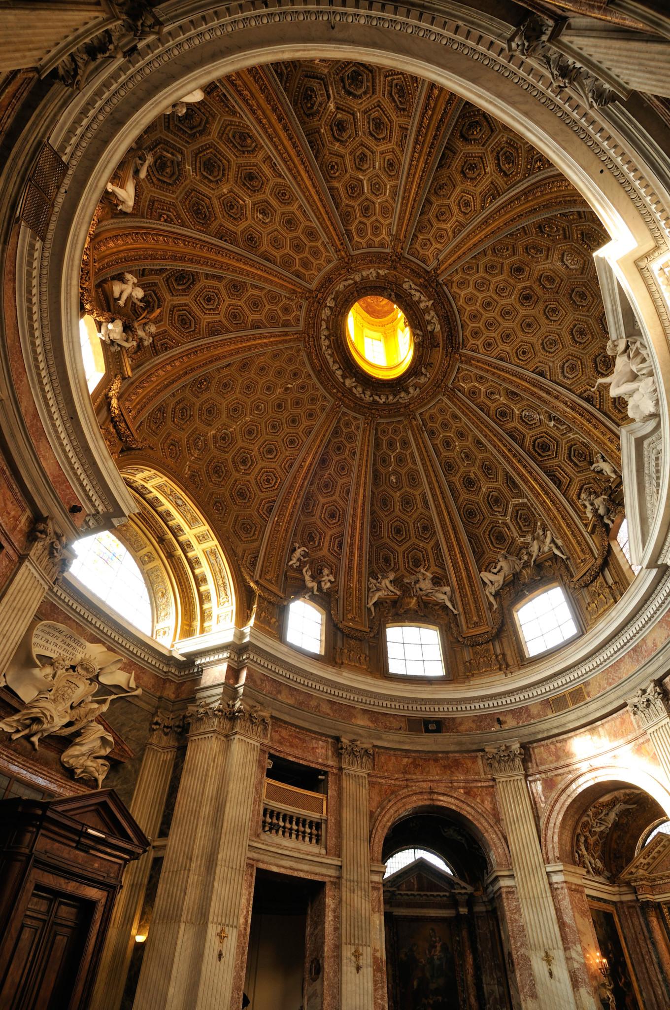 Barokowy kościół świętego Andrzeja na Kwirynale