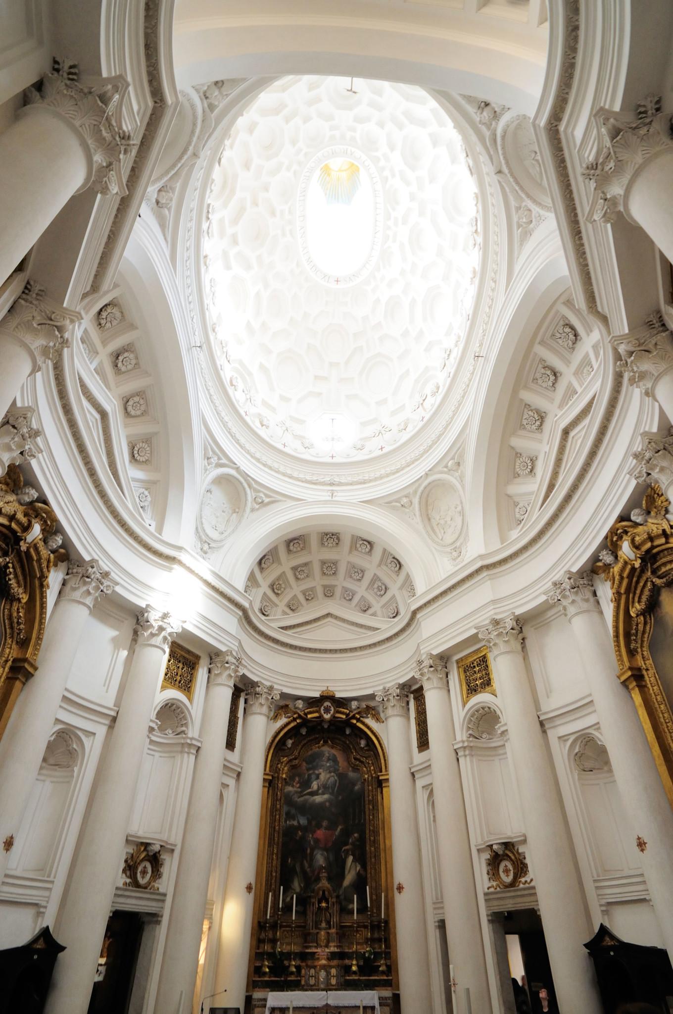 Wnętrze kościoła San Carlo alle Quattro Fontane.