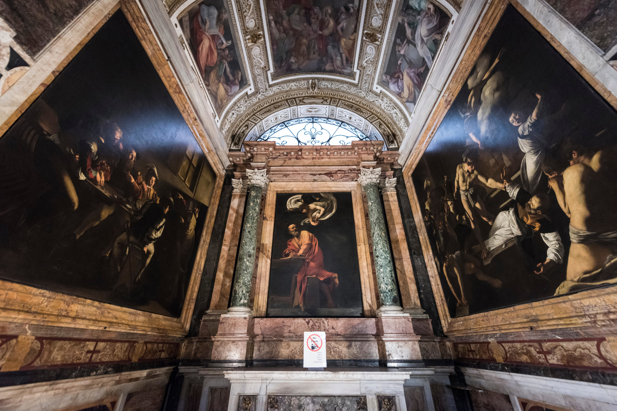 Kaplica Contarelli z obrazami Caravaggia