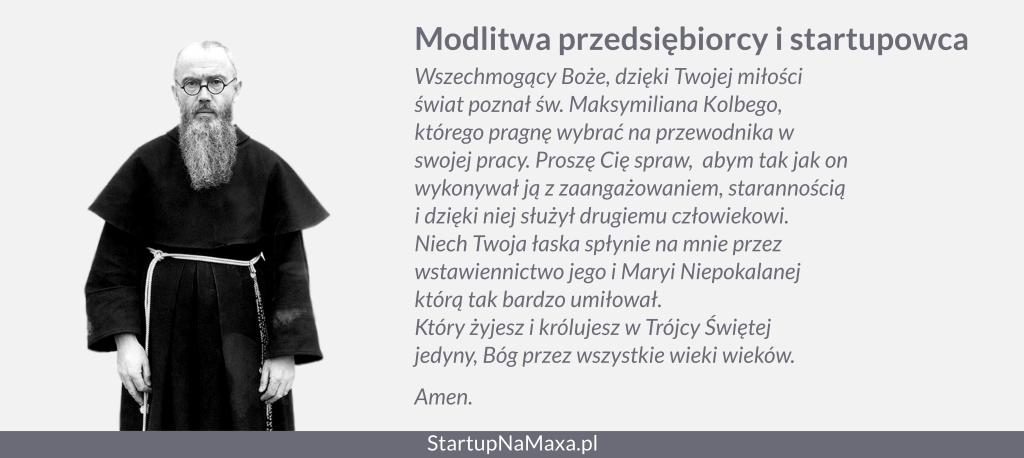 Modlitwa przedsiębiorcy i startupowca