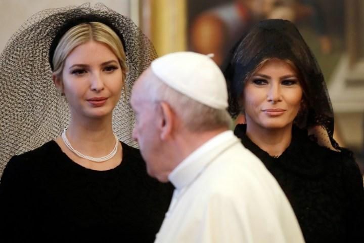 Pierwsza Dama USA Melania Trump wraz z córką Ivanką