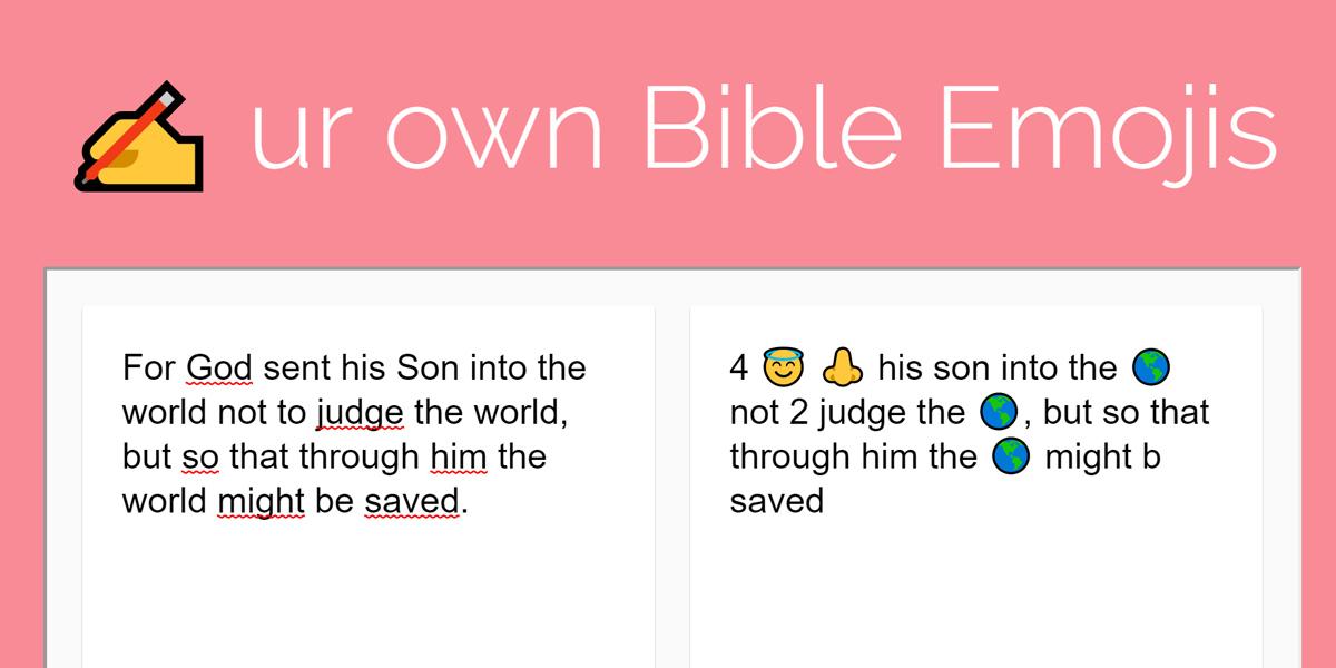 Biblia zapisana za pomocą emotikon. Tylko dla...kogo?