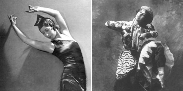 Bronisława Niżyńska w czasie tańca