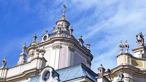 Wieża kościoła w Lwowie