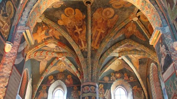 Wnętrze kaplicy Świętej Trójcy na Zamku Lubelskim