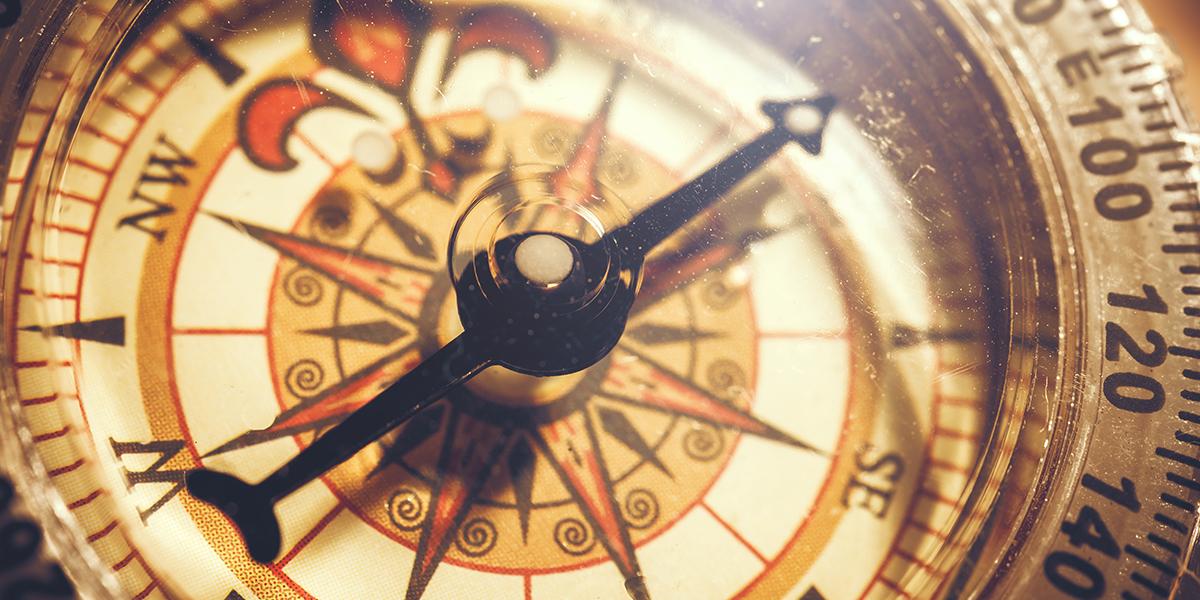 Stary kompas - zbliżenie