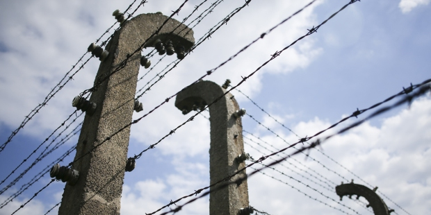 Druty kolczaste w obozie Auschwitz