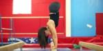 Jen Bricker w trakcie ćwiczeń