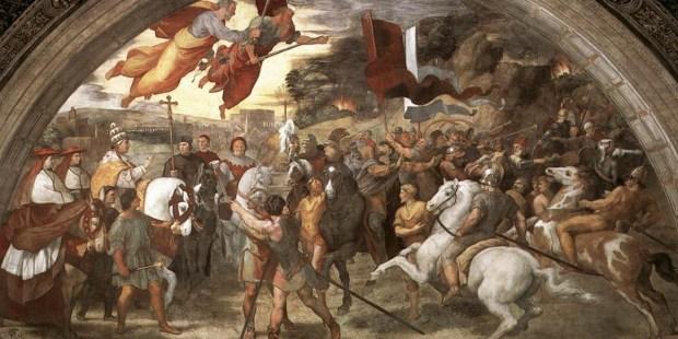 Papież Leon I spotyka się z królem Hunów Attylą.