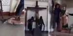 Żołnierze Państwa Islamskiego niszczą kościół w Marawi w Filipinach