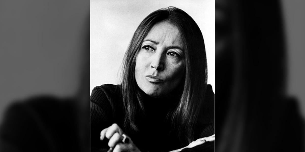 Zamyślona Oriana Fallaci