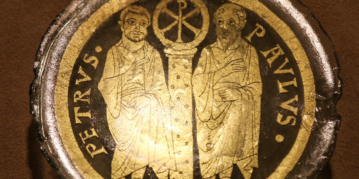 Mozaika ze świętymi Piotrem i Pawłem