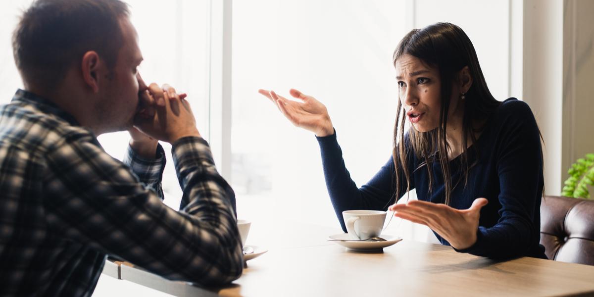 Kłótnia między kobietą i mężczyzną
