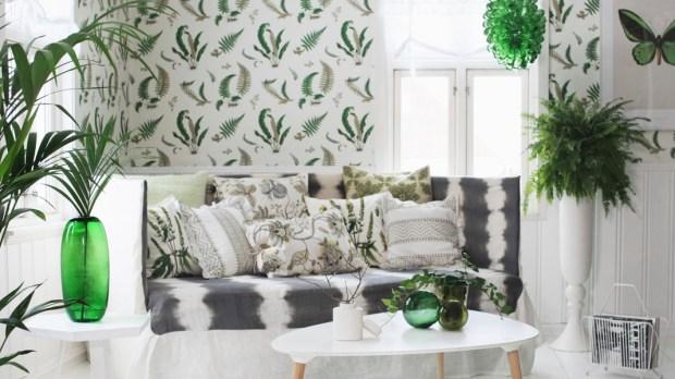 Pokój pełen zieleni