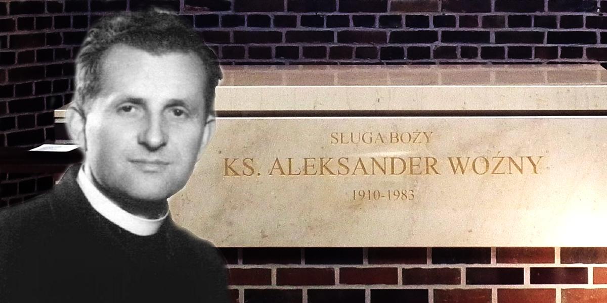 Grób ks. Aleksandra Woźnego