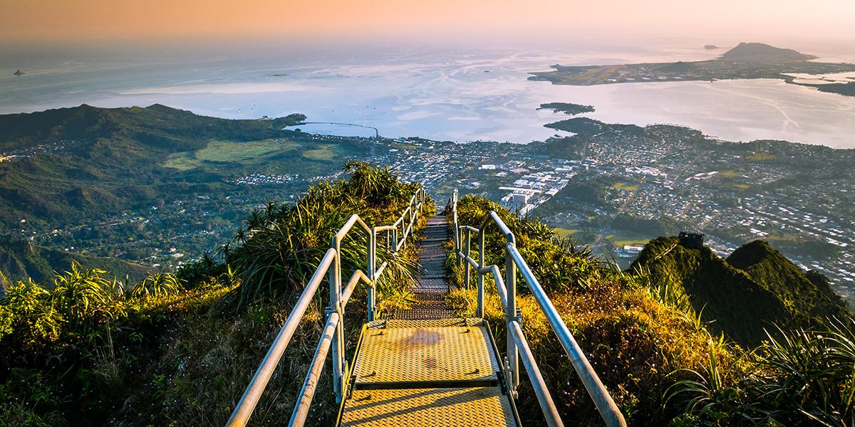 Schody do nieba na Hawajach