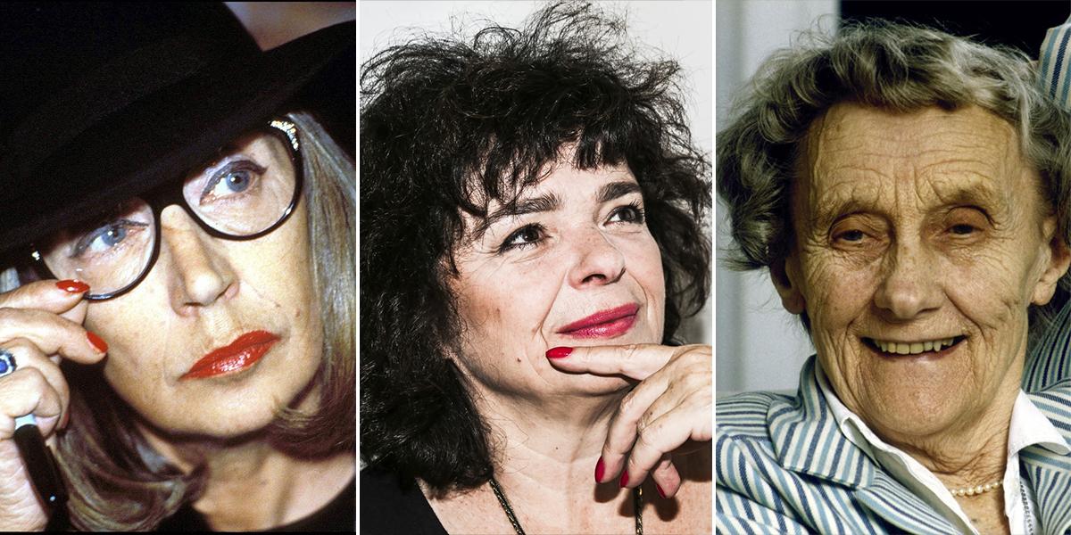 Od lewej Oriana Fallaci, Katarzyna Grochola, Astrid Lindgren