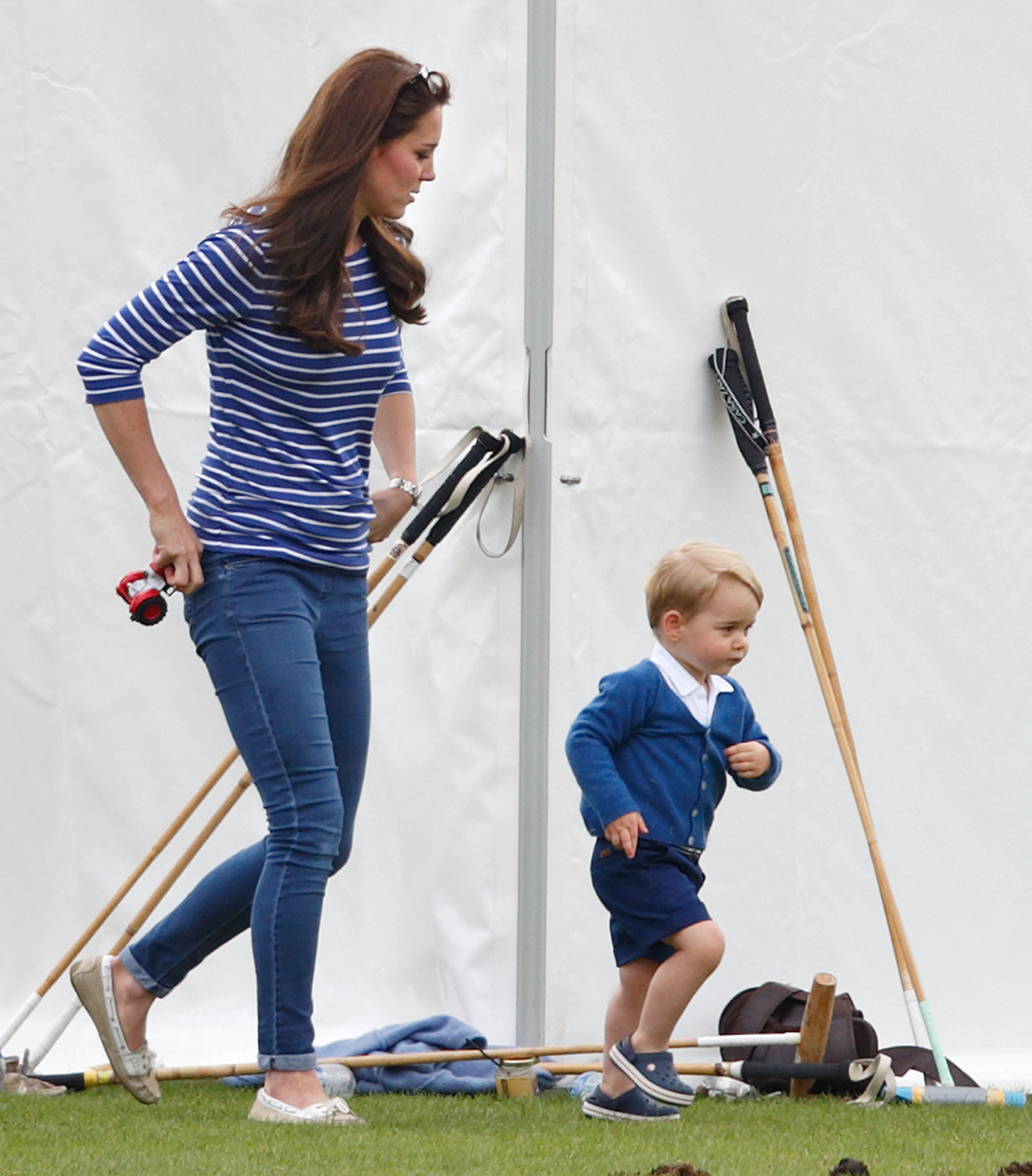 Księżna Kate i George w klubie polo