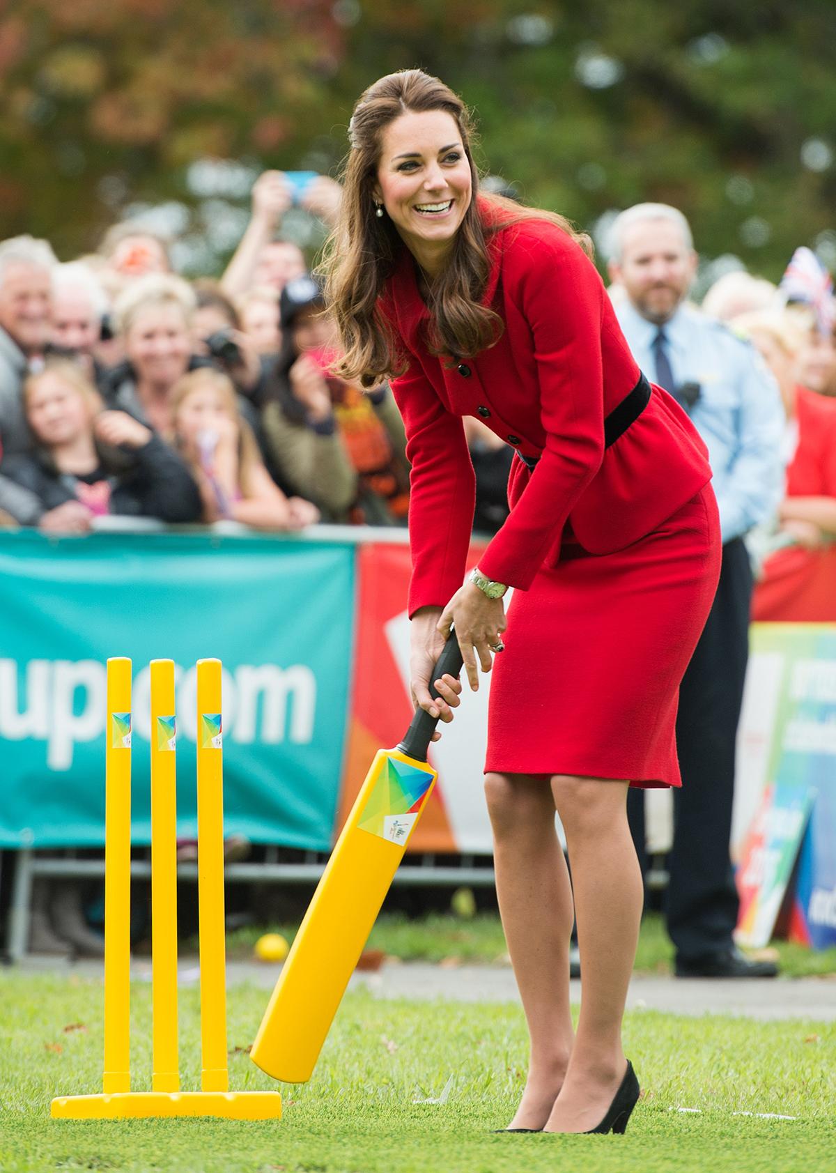 Księżna Kate w Nowej Zelandii gra w krykieta