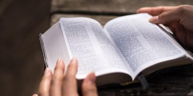 Ręce położone na Biblii