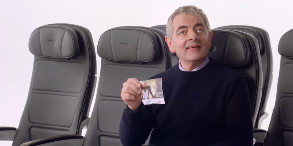 Jaś Fasola w reklamie British Airways