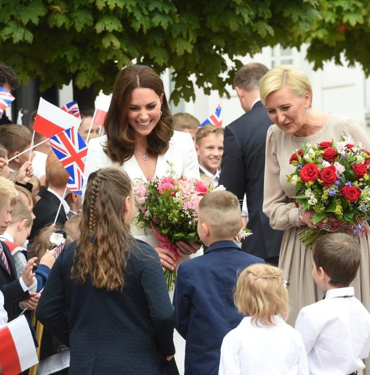 Księżna Kate wsród dzieci Warszawa
