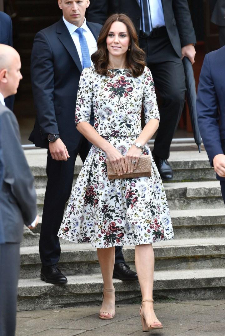 Księżna Kate w sukience w kwiaty podczas pobytu w Polsce