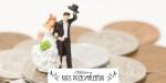 Figurki pary ślubnej na monetach
