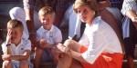 Księżna Diana z Williamem i Harrym