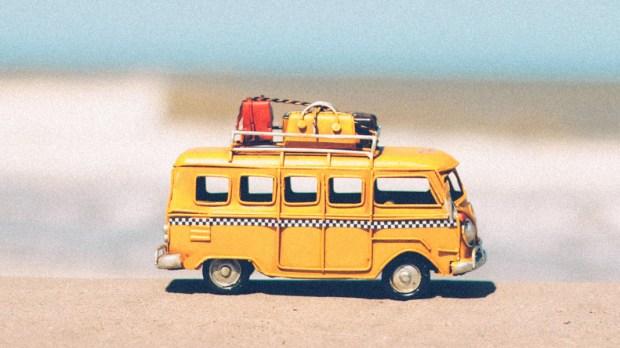 Samochodzik na plaży