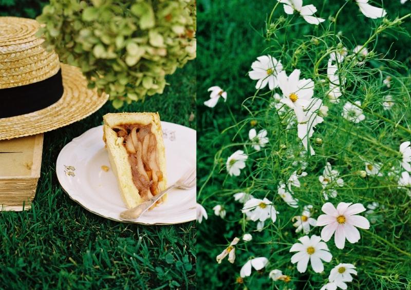 Szarlotka i kwiatki