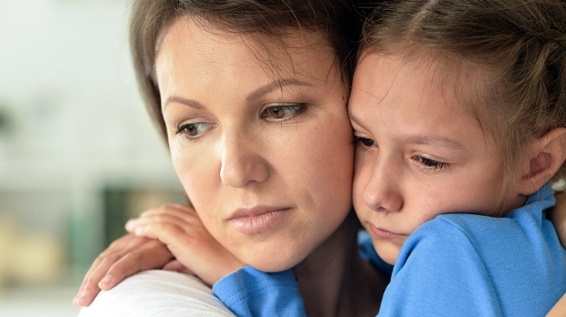 Child and Mother Upset