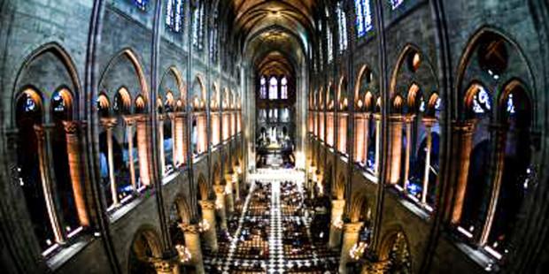 Wnętrze katedry Notre Dame w Paryżu