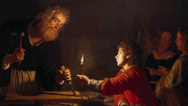 ST JOSEPH,THE WORKER CARPENTER, JESUS,CHILDHOOD OF CHRIST