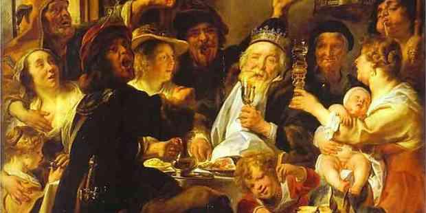 "Jacob Jordaens ""Król pije"""