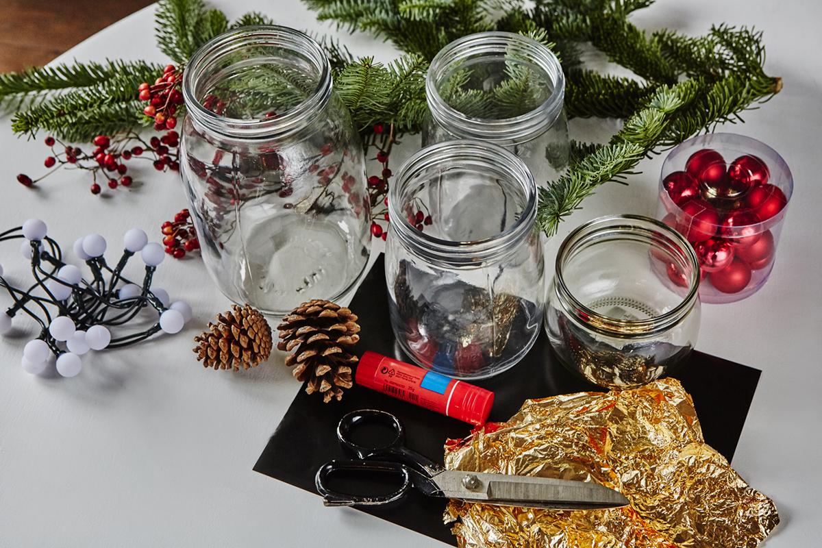 Elementy potrzebne do wykonania szopki Bożonarodzeniowej