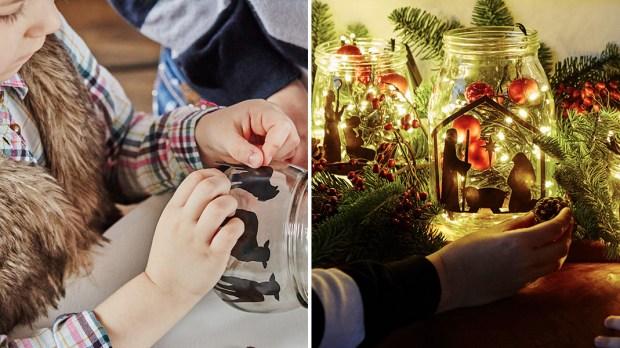 Ręcznie wykonana szopka Bożonarodzeniowa