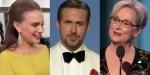 Natalie Portman Ryan Gosling i Maryl Streep podczas przemówień na Złotych Globach 2017