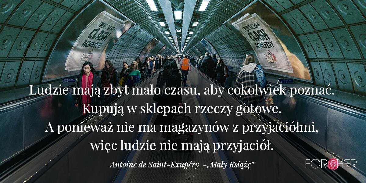Cytat na adwent a Małego Księcia, Antoine de Saint-Exupery.