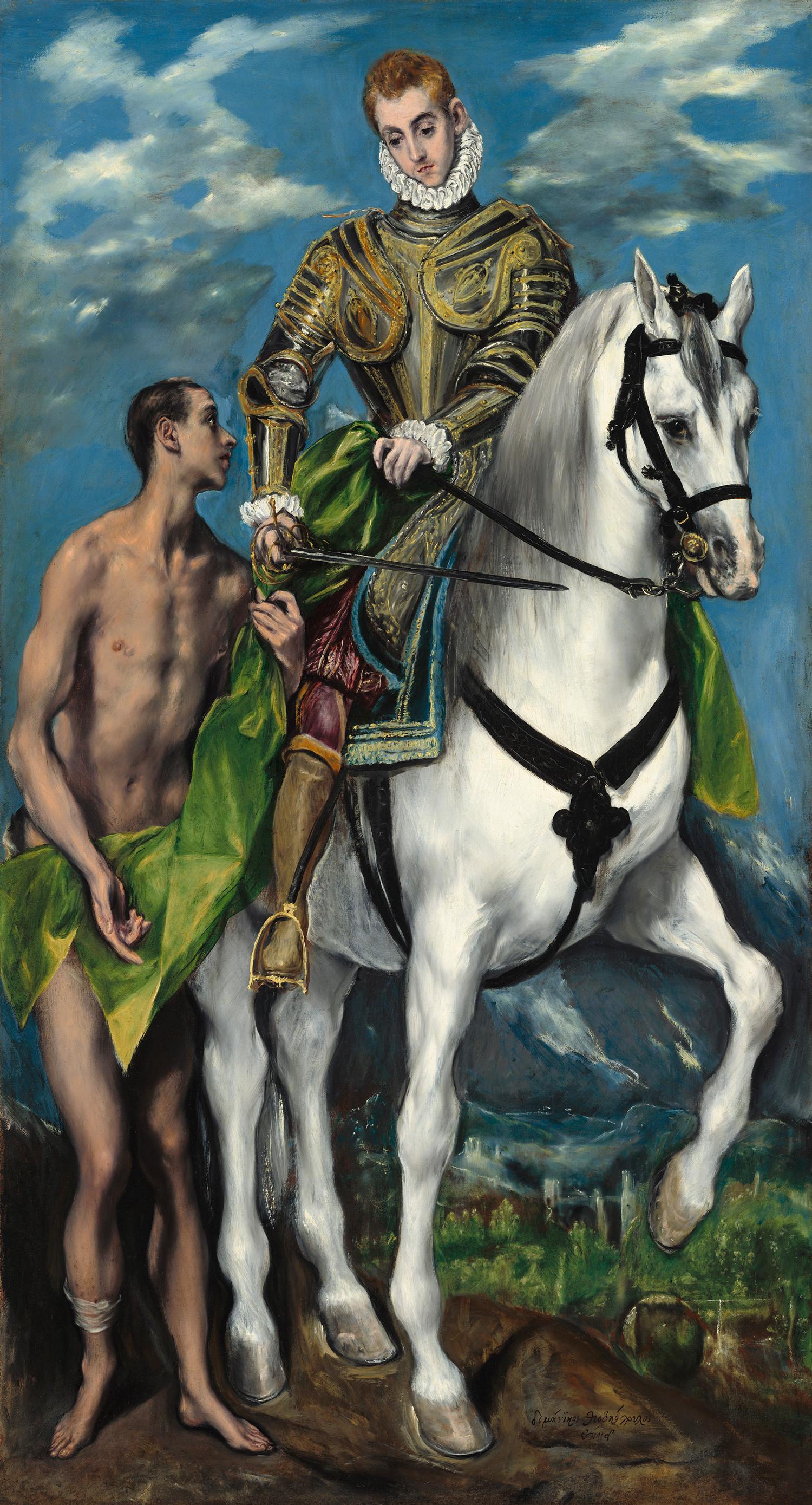 Święty Marcin i żebrak, El Greco, ok. 1597-1599