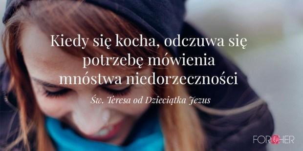 Cytat św Teresy od Dzieciątka Jezus