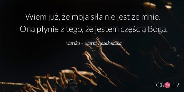 Cytat na adwent, Marika - Marta Kosakowska
