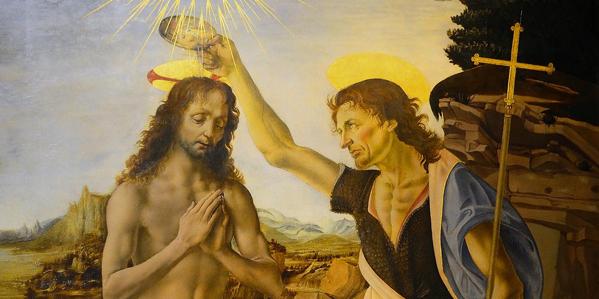 ST JOHN THE BAPTIST,BAPTIZES,JESUS