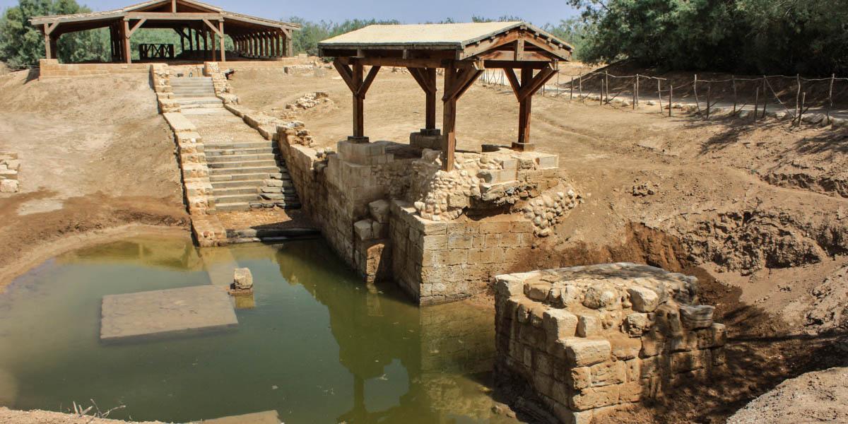 JORDAN RIVER,BAPTISM SPOT OF CHRIST