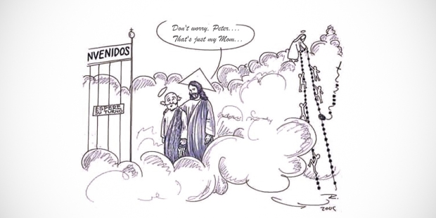 JESUS ST. PETER HEAVEN ROSARY