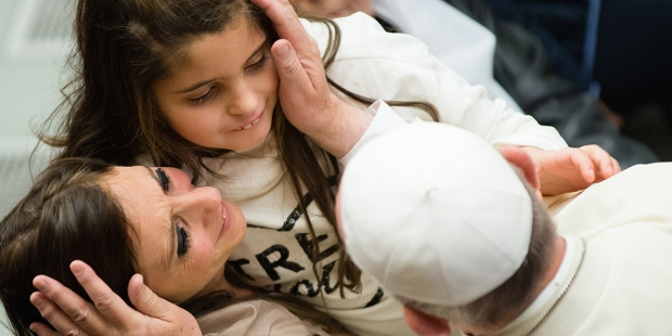 POPE FRANCIS,MOTHER,DAUGHTER